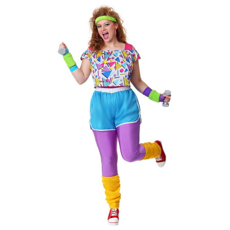 Women's Plus Size Work It Out 80's (Easy Men's 80's Costume)