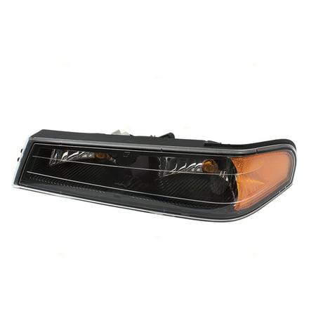 Drivers Park Signal Front Marker Light Lamp Black Bezel Replacement for GMC Chevrolet Isuzu Pickup Truck 8193289540