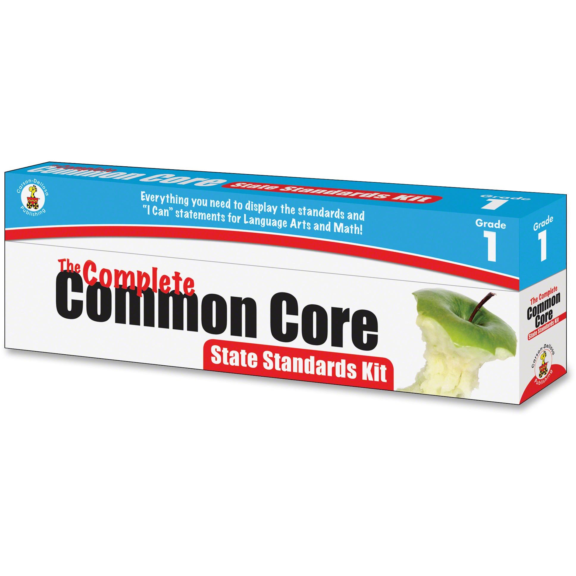 Carson-Dellosa Publishing Common Core State Standard Pocket Chart Cards, Language Arts & Math, Grade 1