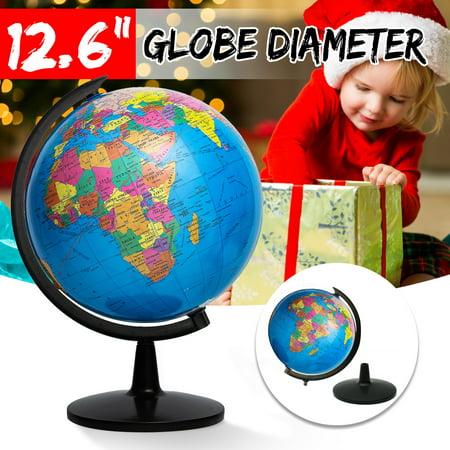 KingSo World Globe, 12.6'' Globe of Perfect Spinning Globe for Kids, Geography Students, Teachers, Easy Rotating Swivel, Desktop Decoration Christmas Present
