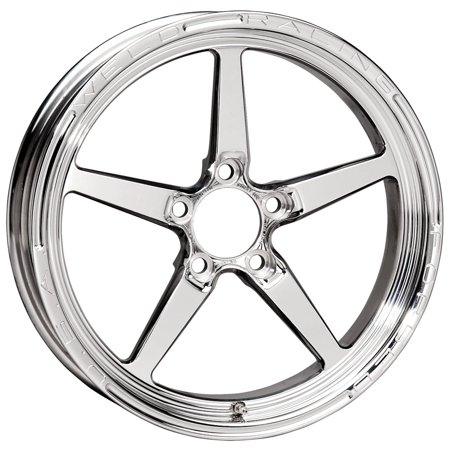 (Weld Racing 88-17000 Weld Pro Drag Alumastar 2.0; 1 Piece; Size 17x2.25; Bolt Pattern Anglia; -12.573 Offset; Back Spacing 1.13 in.; Polished; Center Cap Included;)