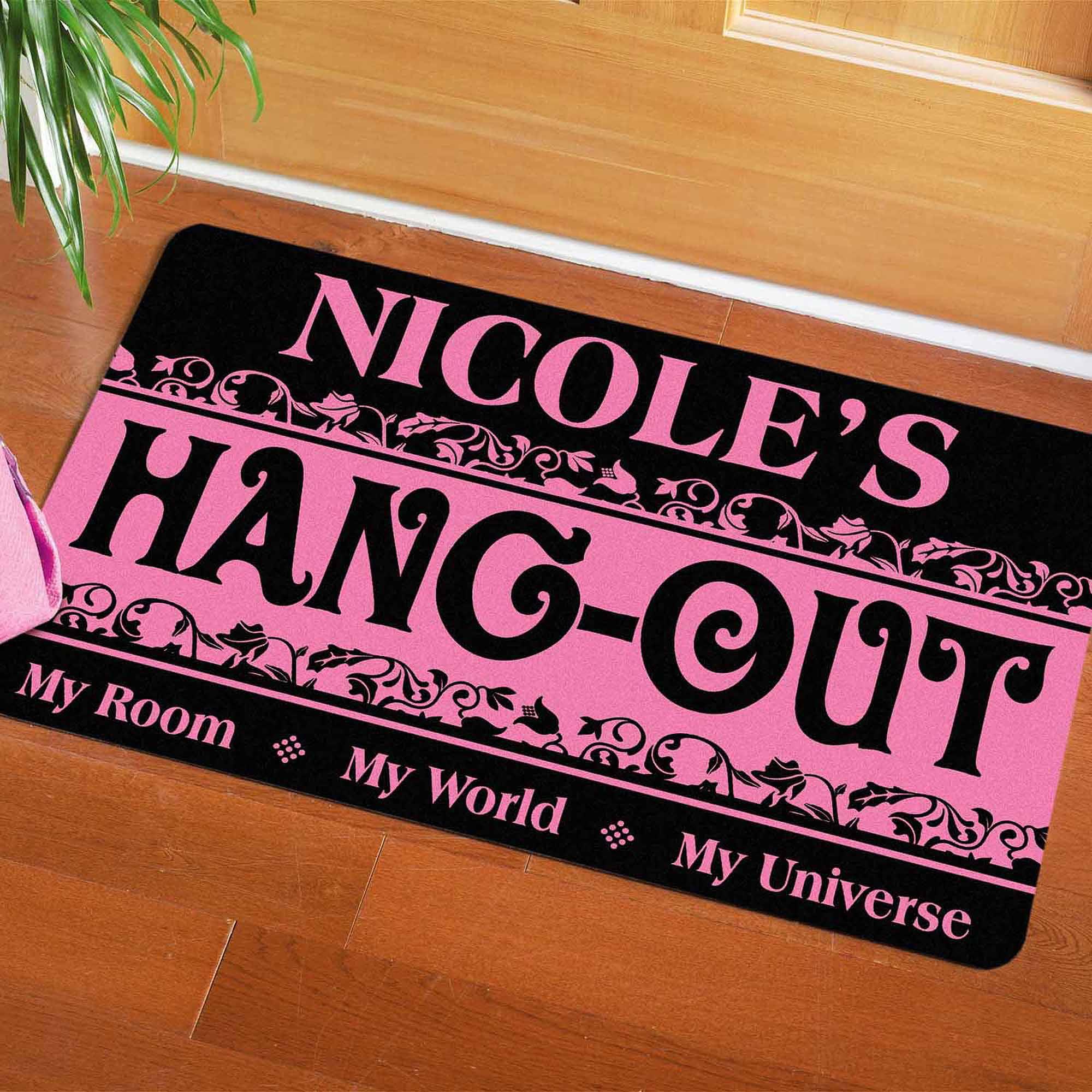 """Personalized My Hangout Doormat, 17"""" x 27"""""""