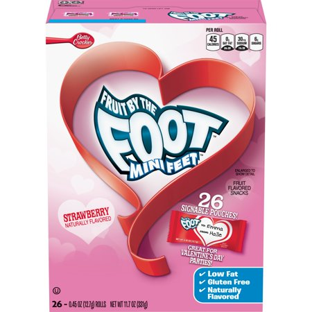 Valentine's Fruit by the Foot Mini Feet, 26 ct, 0.4 oz