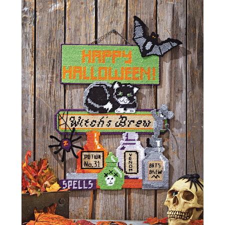 Mary Maxim Witch's Brew Plastic Canvas Kit (Stitch Witch)
