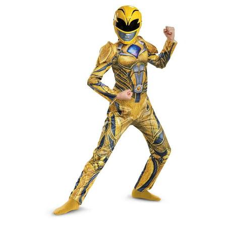 Power Rangers: Yellow Ranger Deluxe Child Costume](Power Rangers Costume Kids)