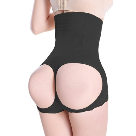 Womens Firm Control Shapewear Butt Lifter Shaper Waist Trainer Cincher Tummy Control Body Shaping Boyshorts Hi-waist Thigh Slimmer Pants (Firm Control Open Bottom Girdle)