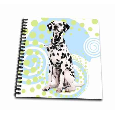E-glass Blank (3dRose Cute Dalmatian Dog with Eyeglasses and Stethoscope Nurse or Doctor - Mini Notepad, 4 by 4-inch )