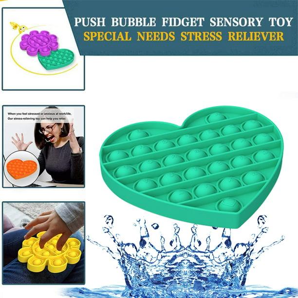Push Bubble Sensory Fidget Children Toy Autism Special Needs Silent Classroom
