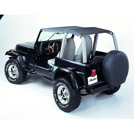 Jeep Wrangler Bestop Cargo - Bestop 52529-09 Jeep Wrangler Safari Ext Length Strapless Safari Style Bikini Top- Charcoal