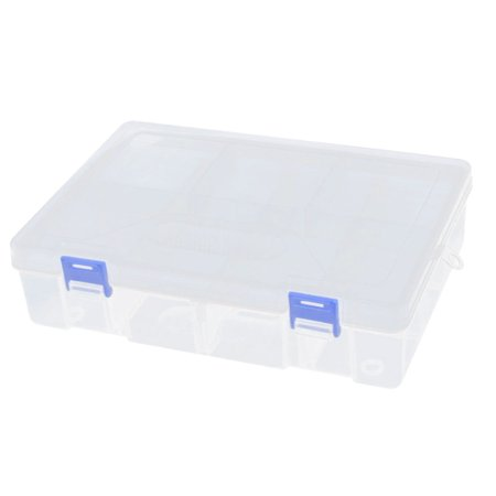 Unique Bargains Plastic 8 Compartment 2 Layers Electronic Component Storage Box Case Organizer