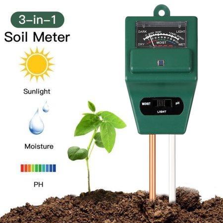 Soil PH Meter, TSV Soil Moisture Meter, 3-in-1 Soil Test Kit for PH/Moisture/Light Digital Soil Tester for Indoor/Outdoor Plant