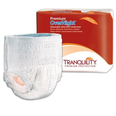 Tranquility Premium Overnight Underwear, SMALL, Heavy Absorbency, 2114 - Case of 80