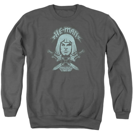 MASTERS OF THE UNIVERSE/HE MAN - ADULT CREWNECK SWEATSHIRT - CHARCOAL - XL