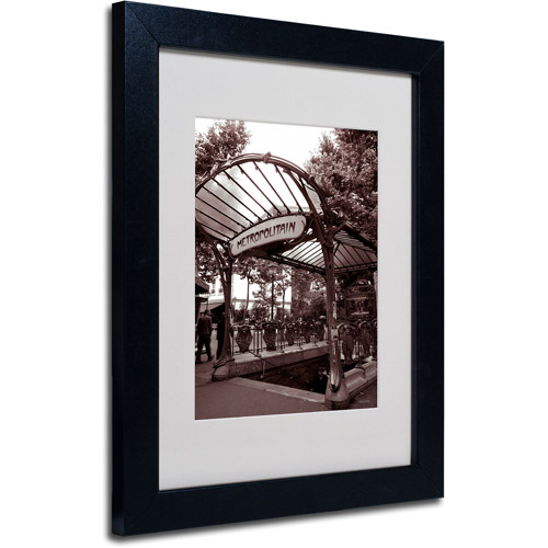 Trademark Fine Art 'Le Metro as Art 2' Matted Framed Art by Kathy Yates