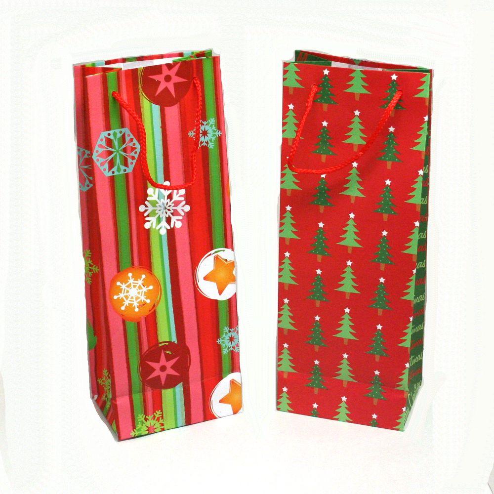Christmas Wine Bottle Gift Bags - Walmart.com
