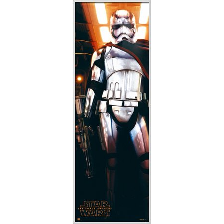 "Star Wars: Episode VII - The Force Awakens - Framed Door Movie Poster / Print (Captain Phasma) (Size: 21"" x 62"")"