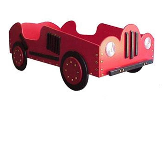 Just Kids Stuff Old Style Race Car Toddler Bed Red