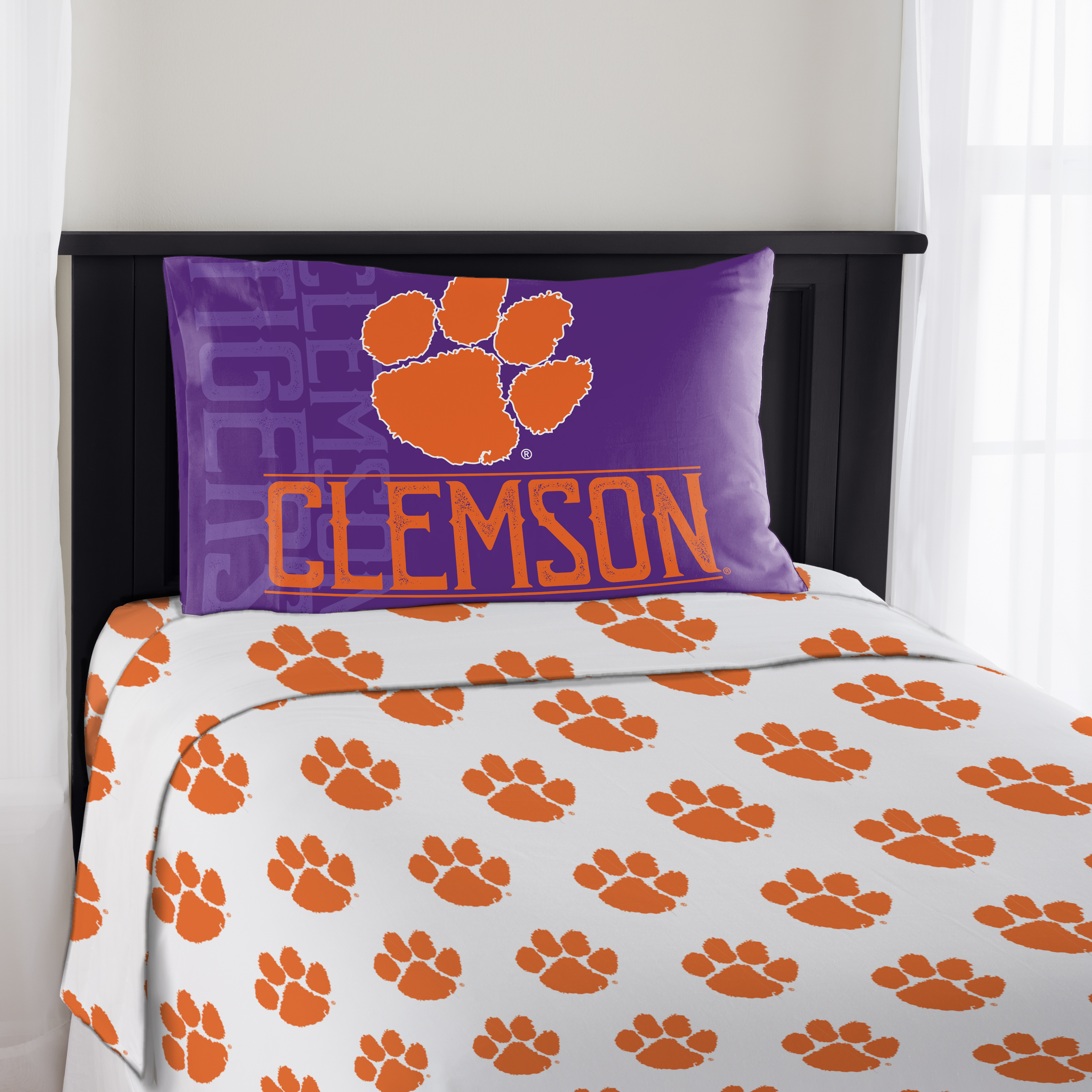 NCAA Clemson Tigers Affiliation Twin Sheet Set