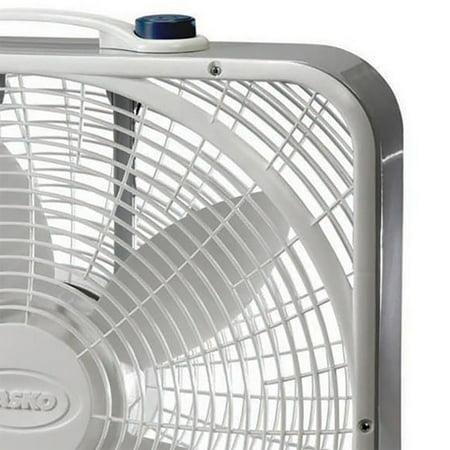 "Lasko 20"" 3 Speed Settings and Easy Carry Handle Preimum Steel Box Fan (3 Pack) - image 4 of 6"