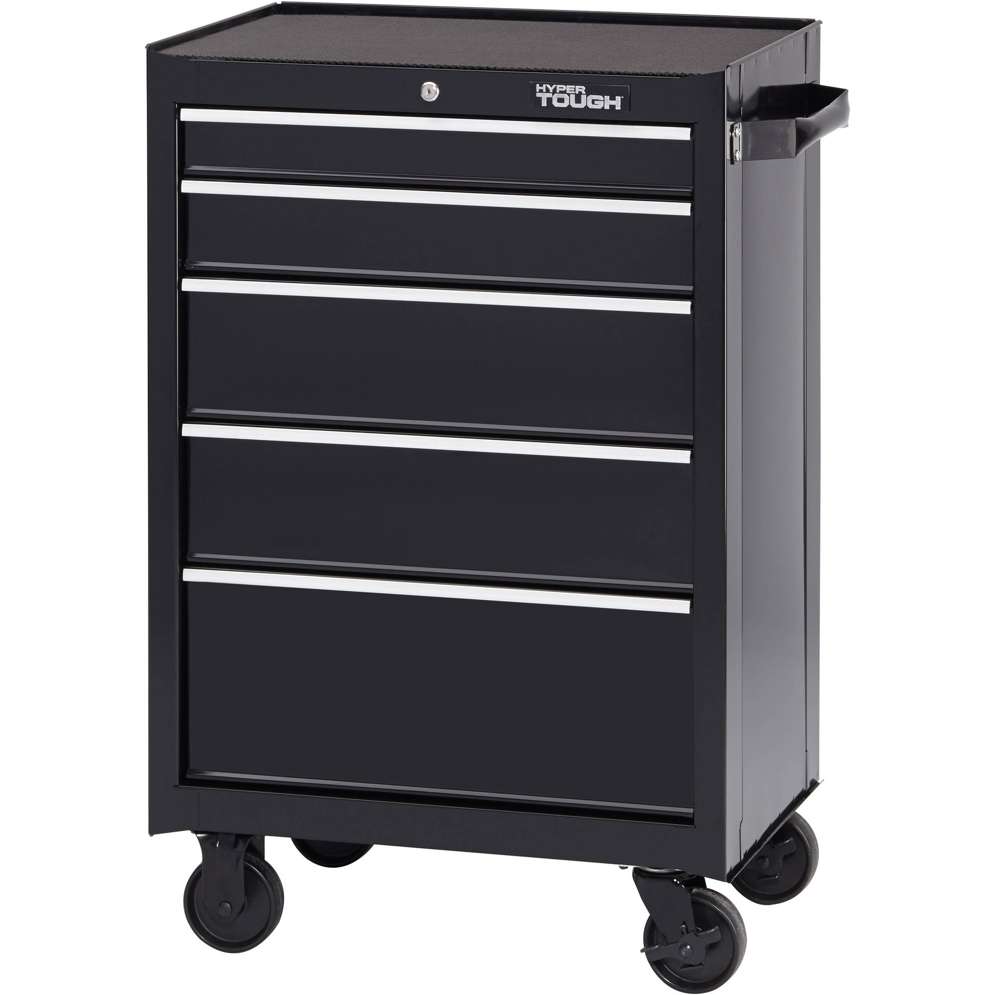"Hyper Tough 5-Drawer Rolling Tool Cabinet with Ball-Bearing Slides, 26""W"