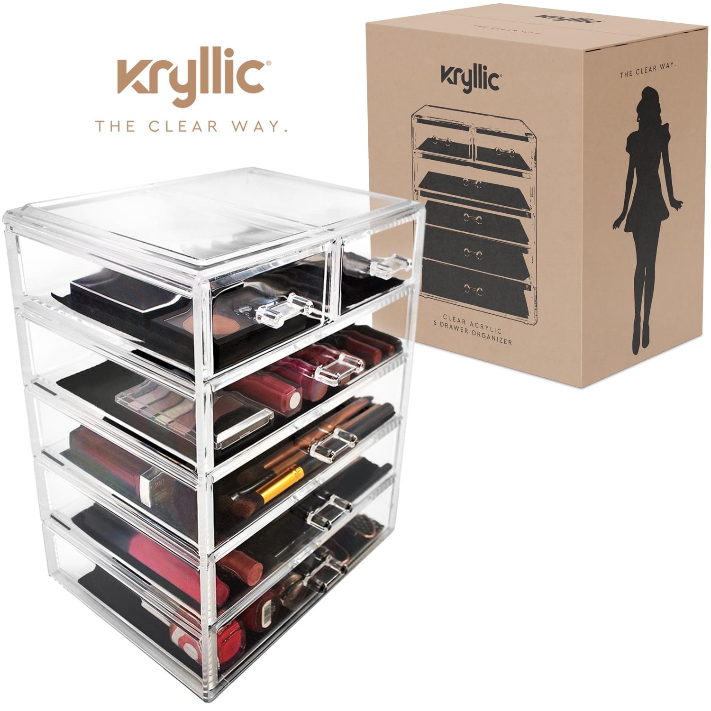 Makeup Organizer Jewelry Cosmetic Storage Large Acrylic 6 Drawer