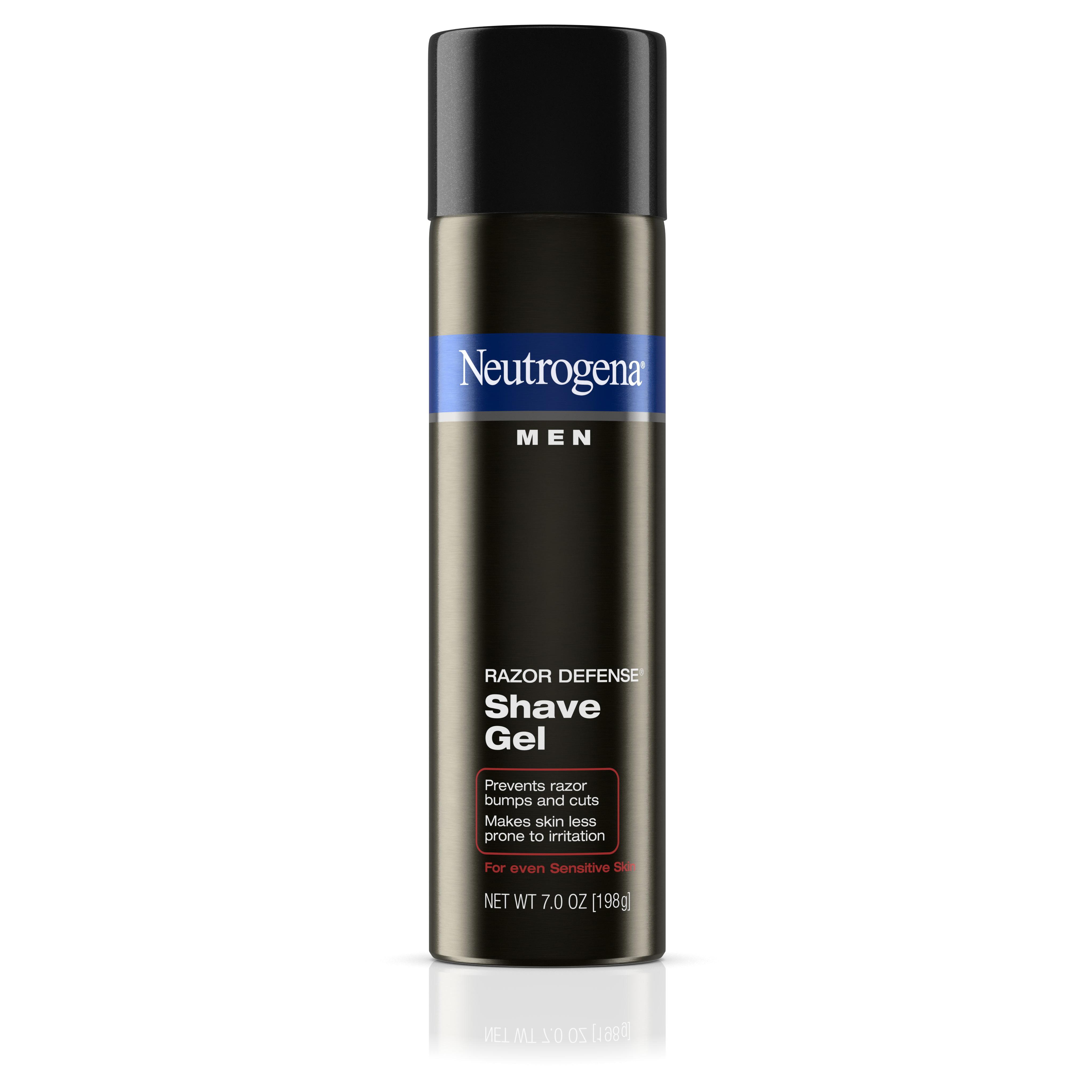 Neutrogena Men Razor Defense Shave Gel For Sensitive Skin, 7 oz