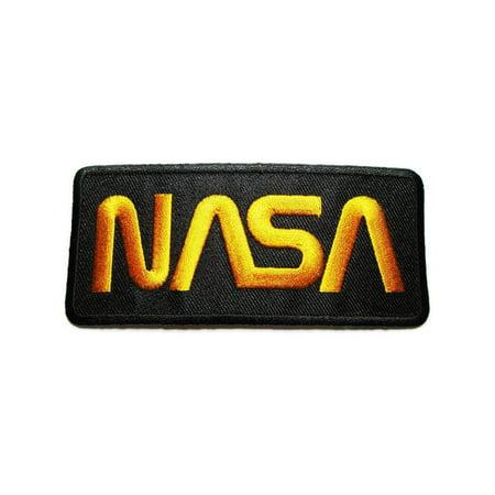 Nasa Logo Patch, Black/Yellow - Vector Costume