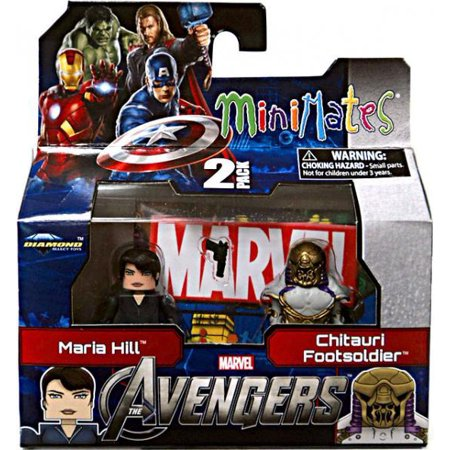Marvel Minimates Series 45 Avengers Movie Maria Hill & Chitauri Footsoldier Minifigure 2-Pack for $<!---->
