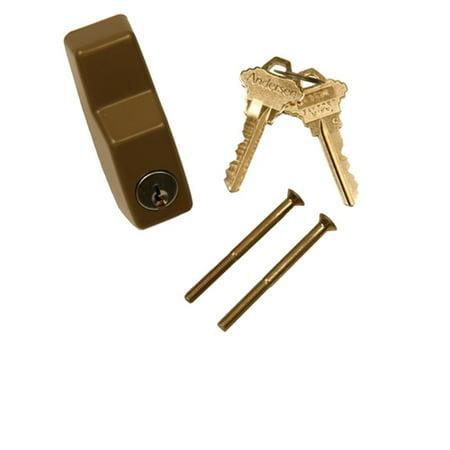 Andersen Exterior Keyed Lock 2-Panel Door 6-Pin in Stone Color 1968 to Present ()