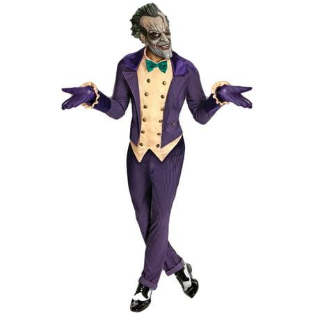 Arkham Joker Costume (Morris Costumes Mens Long Sleeve Character Joker Arkham City Costume, Style)