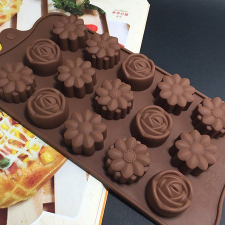 Cavity Silicone Flower Rose Chocolate Cake Soap Mold Baking Ice Tray Mould - Halloween Chocolate Tray Bake