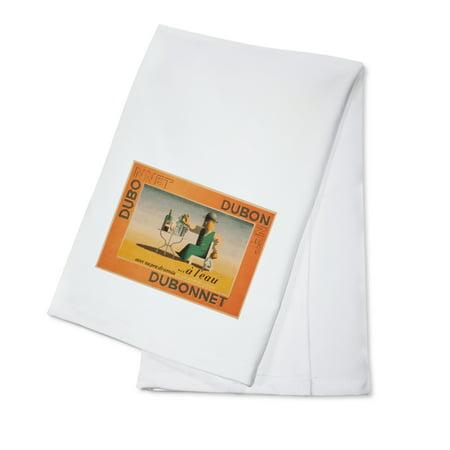 Dubonnet Rouge - Dubonnet - a l'eau Vintage Poster (artist: Cassandre) France c. 1935 (100% Cotton Kitchen Towel)