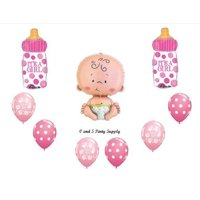 IT'S A GIRL BABY BOTTLE SHOWER Balloons Decorations Supplies by Anagram