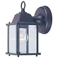 Single Light Porch Wall Lantern, Black