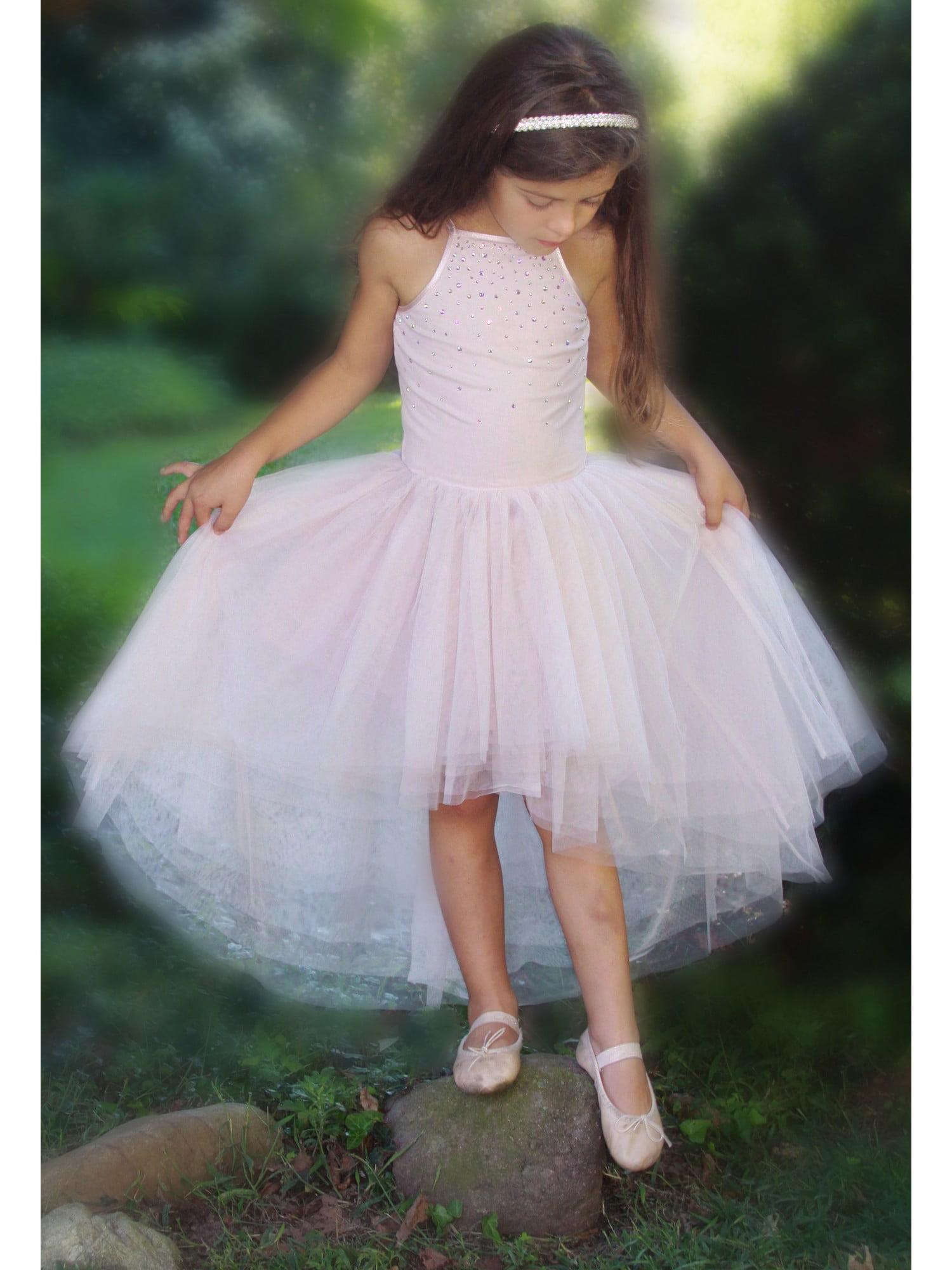 Ooh La La Couture Kids Tutu Dress baby blue cream bow rhinestones sleeveless
