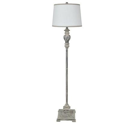 Portland 62.5-inch Tapered Drum Floor Lamp, Grey