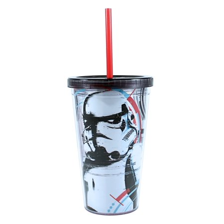 Storm Trooper 16 oz Plastic Cold Cup w/ Ice Cubes - ST