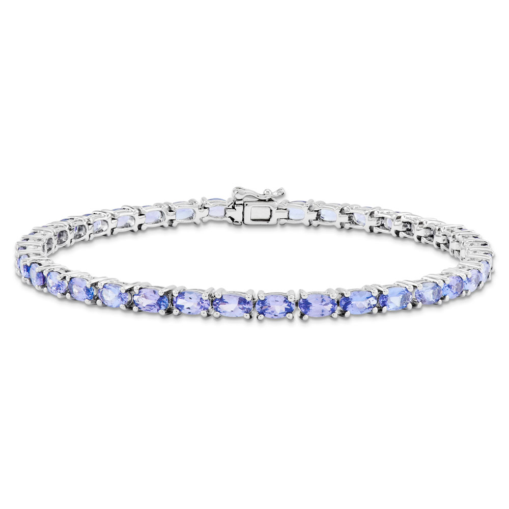 Sterling Silver Tanzanite Bracelet 8.43 cwt by