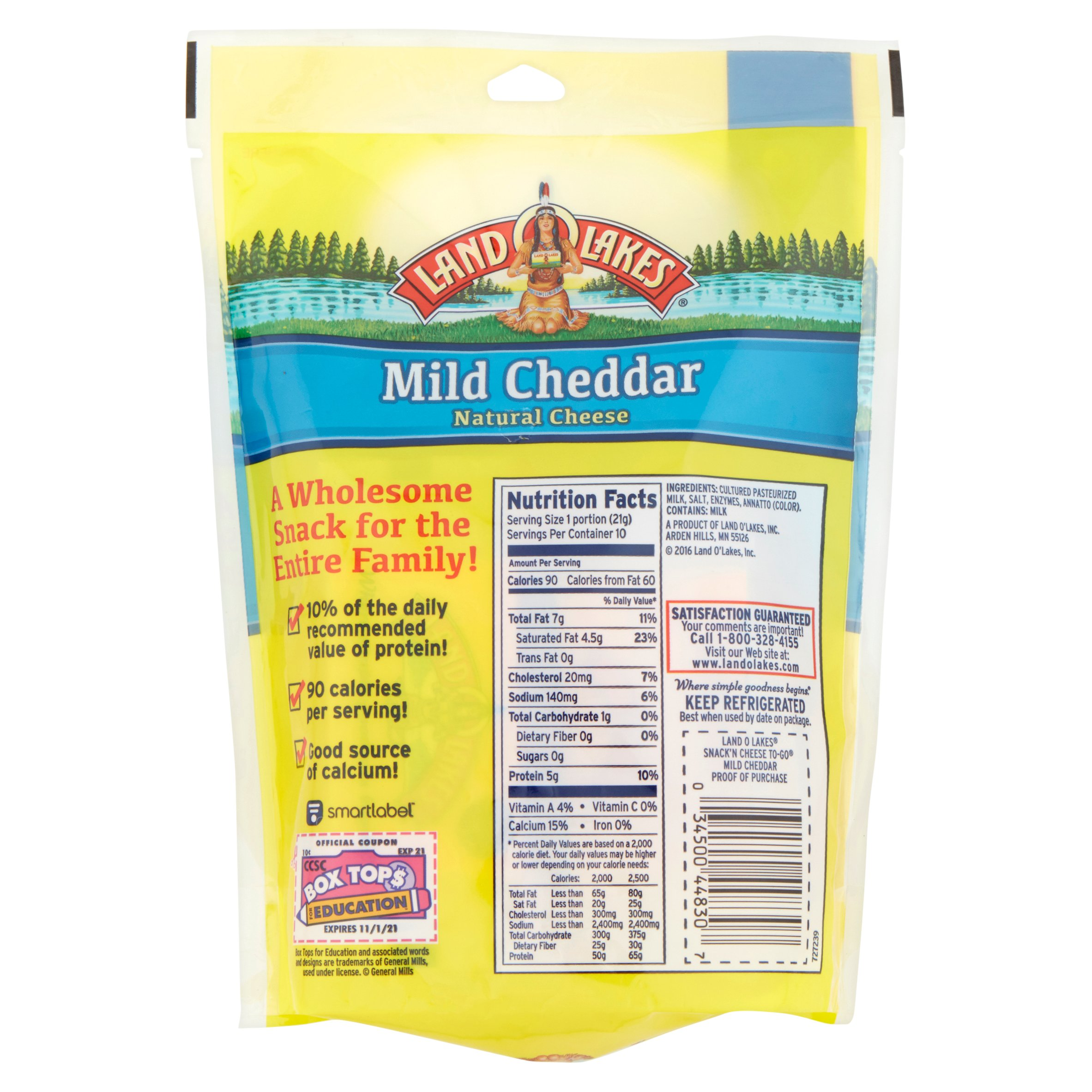 Land O Lakes Cheese Squares Nutrition