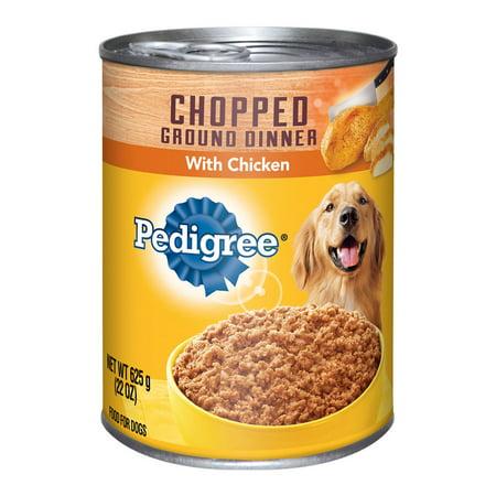 Pedigree Chopped sol dîner avec poulet en conserve 22 aliments pour chiens Onces