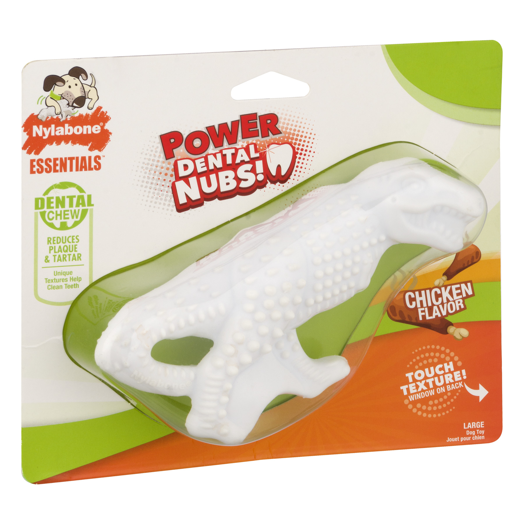 Nylabone Essentials Chicken Flavored Dental Dog Chew Toy, Large