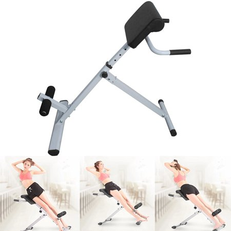 Zimtown Hyperextension Bench Adjustable Roman Chair for Abs Exercise Workout Gym, Back Training Machine (Bj Machine)