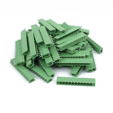 50Pcs AC300V 8A 5 08mm Pitch 13P Straight Needle Plug-In PCB Terminal Block