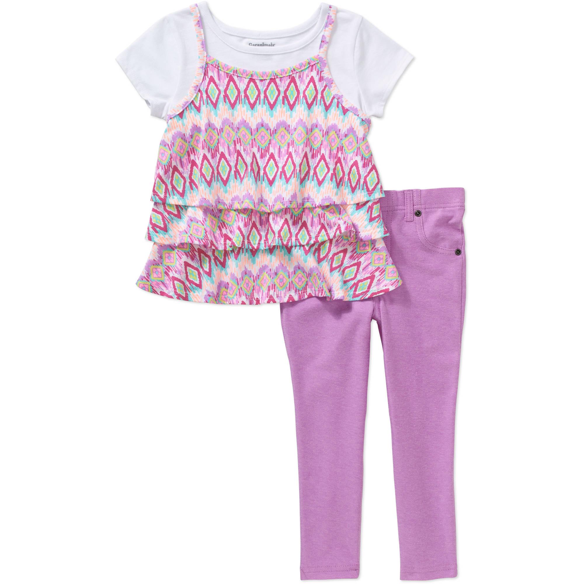 Garanimals Baby Toddler Girl Short Sleeve 2Fer Ruffle Tee ...