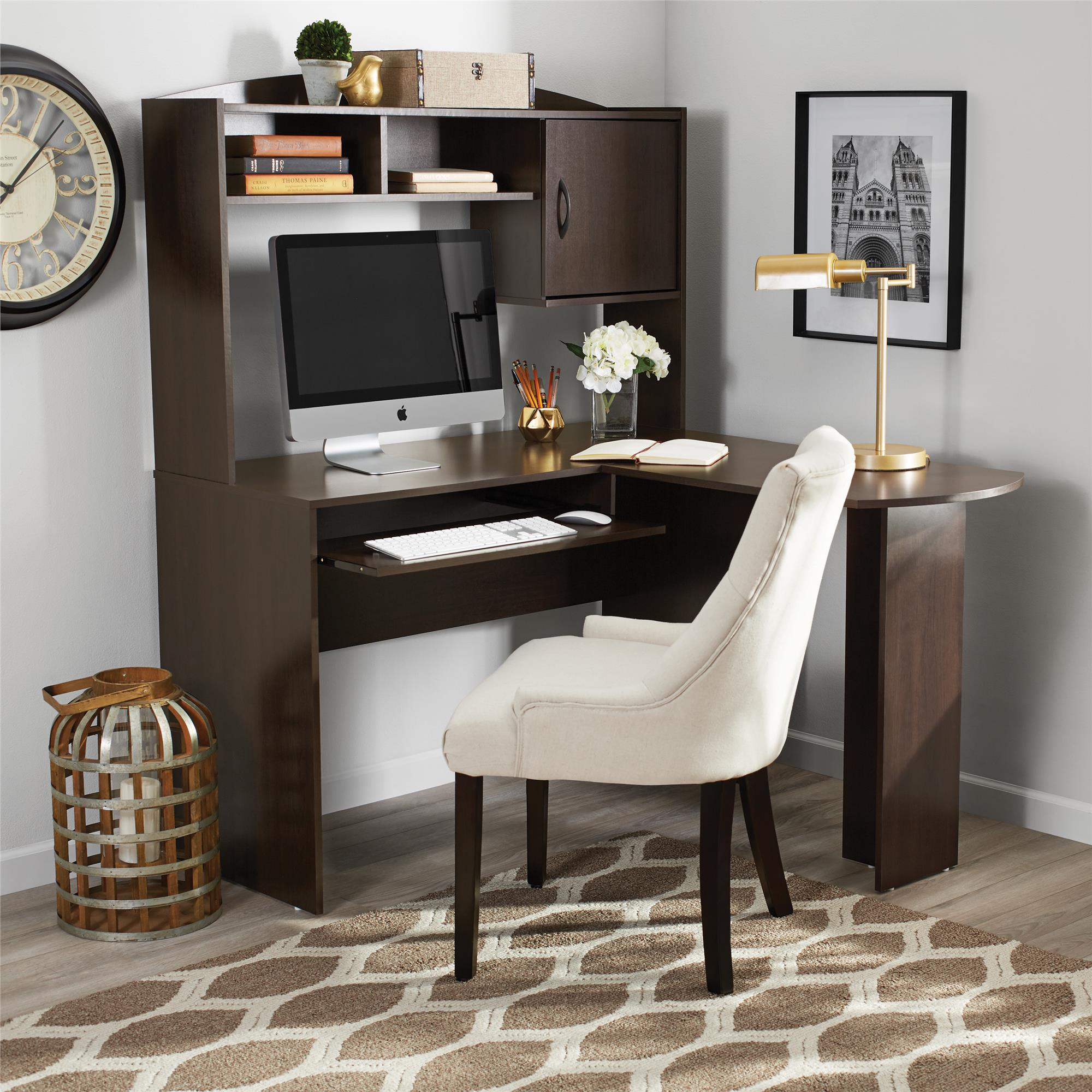 Mainstays L-shaped Desk In Espresso Color