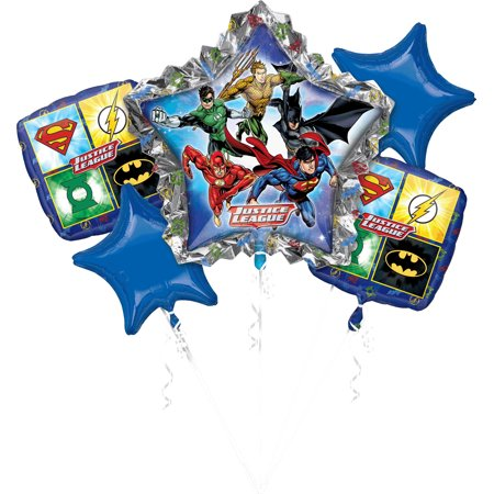 Justice League Balloon Bouquet - Party Supplies - Justice League Birthday Party