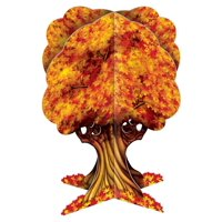 Club Pack of 12 Fall Thanksgiving 3-D Autumn Tree Tabletop Centerpiece