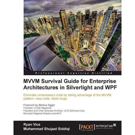 MVVM Survival Guide for Enterprise Architectures in Silverlight and WPF - (Best Wpf Mvvm Framework)
