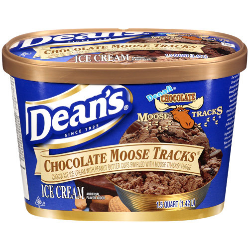 Dean's: Chocolate Moose Tracks Ice Cream, 1.5 Qt
