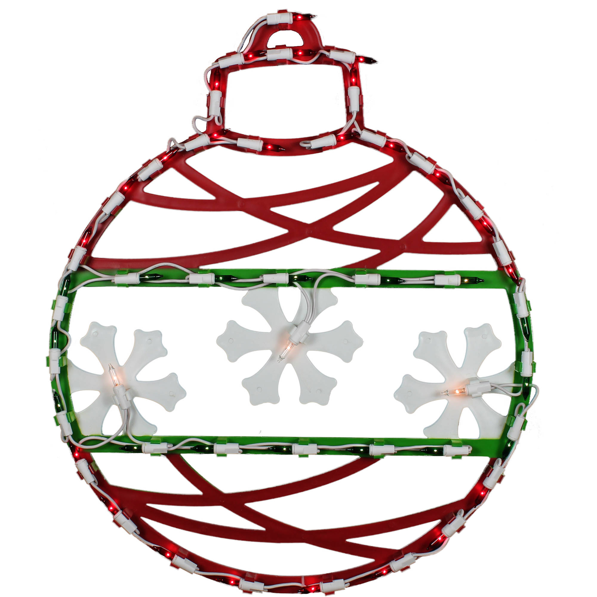 "Holiday Time Christmas Lights 16.5"" Lighted Ornament Window Decoration"